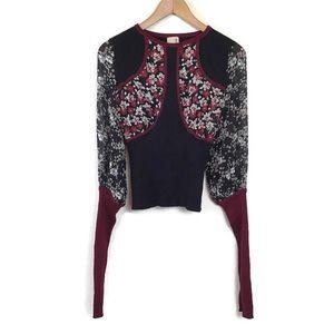 Antonio Marras Sweater Top Floral Print Wool 40
